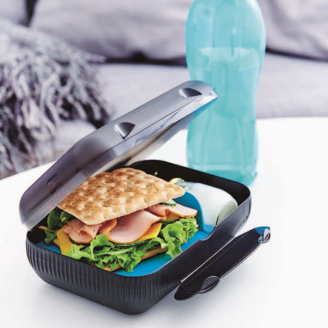 Tupperware glass lunch box self leveling concrete on plywood